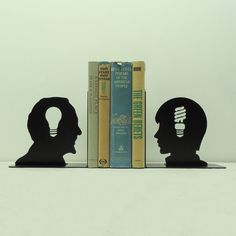 Old and New Ideas Metal Art Bookends