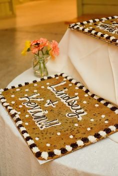 lindsey+Kevin wedding cookie cake Photos by Jen Brazeal Photography, LLC