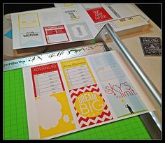 Tips for Printing and Cutting Digital Files {journal cards}