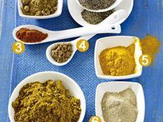 Curry - scharfe Gewürzmischungen aus Indien und Thailand - curry_bestandteile_2