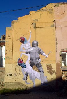 VinZ New Street Piece In Barcelona, Spain StreetArtNews | World of Street & Outdoor Arts | Scoop.it
