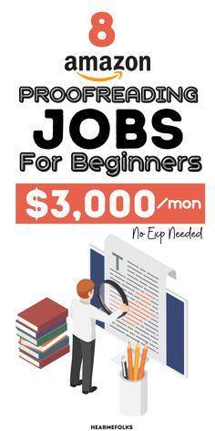 Amazon proofreading jobs for beginners. In this article, you'll find the best freelance proofreading and editing jobs offered by Amazon, amazon jobs, and amazon jobs from home for beginners. Amazon Products List, Amazon Jobs, Make Money Blogging, Way To Make Money, Make Money Online, Online Jobs For Moms, Online Work, Reading Jobs, Virtual Jobs