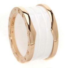 bvlgari 18k pink gold b zero one ring us size 625