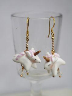 boucles d'oreilles bébés licornes, baby unicorn