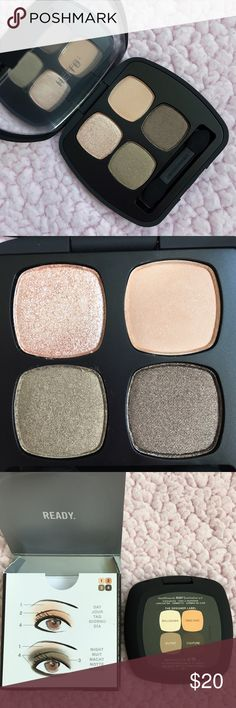bareMinerals Palette Quad in Designer Label The Designer Label Quad features 4 earth-toned shades. Ball Gown is a nude sheen, Tree Chic is an apricot creme, Elitist is an olive brown and Couture is a dark brown.  Brand new and unused. bareMinerals Makeup Eyeshadow