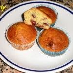 Muffin ai mirtilli secchi