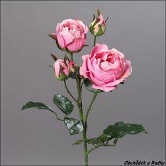 Umělá růže s poupaty Glass Vase, Decor, Plant, Decoration, Decorating, Deco