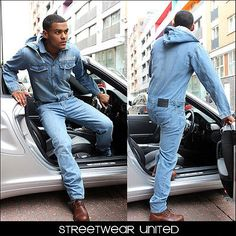 Brooklyn Mint One Piece Denim Jumpsuit Overall Jeans Dungarees Onesie Suit Mens in Clothes, Shoes & Accessories | eBay