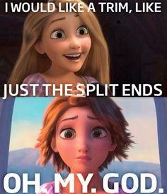 What I'm like when my mum 'tries' to cut me hair..
