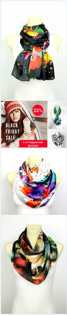 Black Friday Sale 25%OFF use coupon code BF25OFF. Unique handmade scarves available in over 500 trendy fashion designs. Take advantage of Black Friday Deals which end on Cyber Monday at midnight! Chose unique Christmas gift idea for a women. Give your mom, wife, girlfriend or simply a friend beautiful present made with love in Brighton,UK. Fashion Accessories are trendy this year, get your Christmas shopping done early…