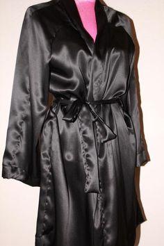 soft black 100% silk robe!