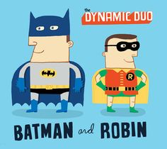 The Dynamic Duo - Batman & Robin by Allan Sanders