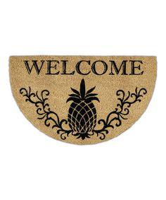 Love this Pineapple Welcome Door Mat on #zulily! #zulilyfinds