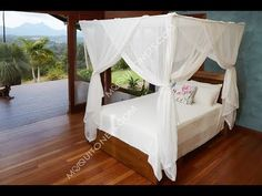 Deluxe cotton box shaped mosquito net bed canopy for King and California King size bed. Fully hemmed quality run proof weave cotton mosquito net. Bed Net Canopy, Canopy Bed Curtains, King Beds, Queen Beds, Bedroom Bed, Bedroom Decor, Four Poster Bed Frame, Mosquito Net Bed, California King Bedding