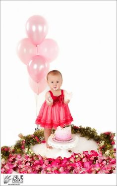 First Birthday Cake Smash Session, Julie Prairie Photography, Sioux Falls Professional Photographer, sioux-falls-photographer, child portrait ideas, pink floral garland