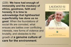 Totus Tuus Family & Catholic Homeschool: 8 Photo Memes of Quotes by Pope Francis on the Climate Encyclical, Laudato Si