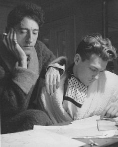 Jean Cocteau and Jean Marais, 1940s.  Photo by Cecil Beaton.  Here I am trying to live, or rather, I am trying to teach the death within me how to live. — Jean Cocteau