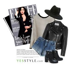 """""""YESSTYLE.com"""" by monmondefou ❤ liked on Polyvore featuring DEEPNY, Acne Studios, 1ROA and Forever 21"""