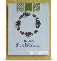 stampin up cottage greetings card stamp set