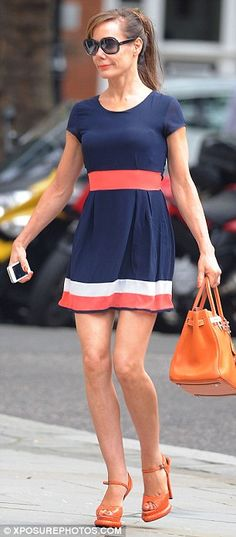 She s a lady! Tara Palmer Tomkinson dresses in co-ordinating summery outfit  for shopping trip as she admits she s  seeing someone  994bae1bff