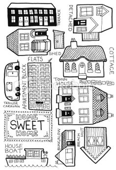 how to draw Home doodles