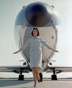 FINNAIR: Ritva Wächter, Miss Finland 1961 & Finnair stewardess.