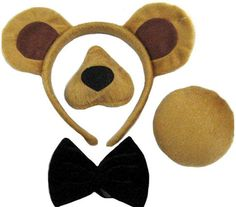 Bristol Novelty Bear Ears, Nose, Tail and Bow Tie Costume Set, Brown, One Size Bear Halloween, Family Halloween Costumes, Diy Costumes, Halloween 2020, Spooky Halloween, Teddy Bear Costume, Bear Mask, Baby Girl Party Dresses, Dress Party