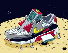'Space Sneaker' Illustrations by Ghica Popa 02