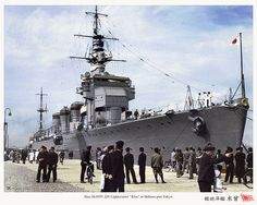 Rare colorized photo of IJN light cruiser Kiso in 1937! . #KiRi group キリ