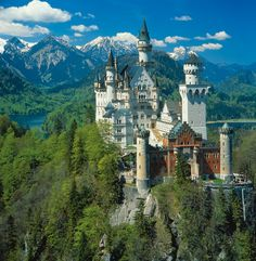 Neuschwanstein Castle-visited this gorgeous castle on my senior trip. It was breathtakingly beautiful.
