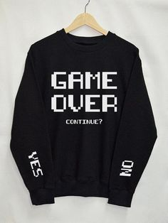 Game Over Shirt Sweatshirt Clothes Pullover Top by Upicestore Source by Tumblr Mode, Style Tumblr, Top Fashion, Fashion Women, Fashion Trends, Fashion Ideas, Funny Fashion, Geek Fashion, Fashion Shirts