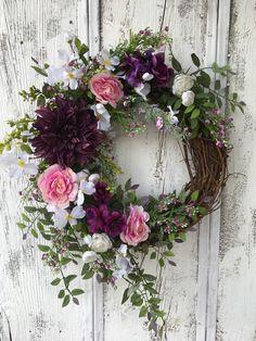 Summer Door Wreaths, Easter Wreaths, Holiday Wreaths, Wreaths For Front Door, Spring Wreaths, Diy Wreath, Grapevine Wreath, Tulle Wreath, Burlap Wreaths