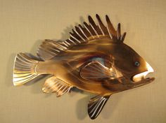 Rockfish Red Rock Fish Deep Sea Bass Fishing Fishing Fisherman Charter Boat Metal Wall Art Steel Home Decor via Etsy