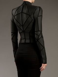 Gareth Pugh.. Viscose Jersey Jacket with PVC paneling.