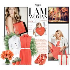 """""""Coral - Top Set Aug.1st, 2012"""" by daisy1980 on Polyvore"""