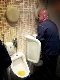 Brilliant: urinal for drunk people