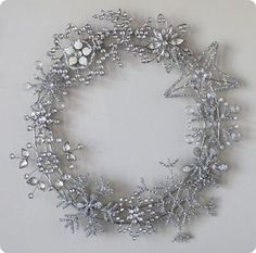 PB jeweled crystal wreath but DIY now for fraction of price!