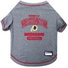 1ba2166f8972aa Washington REDSKINS NFL dog T-Shirt in color Gray