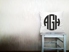WHAT A GREAT CHRISTMAS PRESENT FOR ME FROM MY PARENTS   Wedding monogrammed pillow decorative throw by HomeLivingIdeas, $74.20