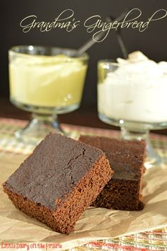 Classic cake like gingerbread! I love it topped with lemon curd and freshly whipped cream!