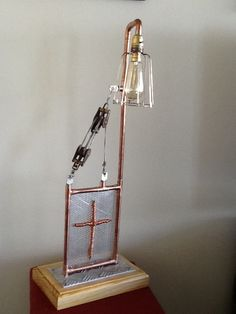 Steampunk pieter pulley lamp