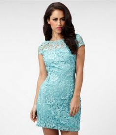 Lace is very big right now and this dress is the perfect wear of :)