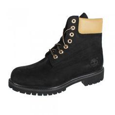 Timberland 6-Inch Premium Waterproof Boot A1471 Black Gold Reflective