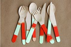 Need a party idea? DIY plastic cutlery. Gets the kids involved with party planning.