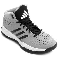 T�nis Adidas Court Fury Cinza e Preto   Netshoes