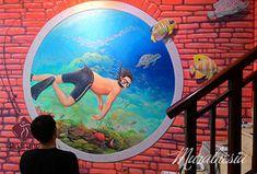 Penyedia Jasa Mural Cafe di Jogja. Hubungi HP/WA : 0818 988 154. Terbaik & Berkualitas. Mural Cafe, 3d Street Art, Painting Services, Semarang, 3d Artist, Lombok, Mural Painting, Surabaya, Beautiful Islands