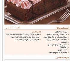 وصفة كاتو الشوكولا والمايونيز بالخطوات #حلويات -8 Cooking Cream, Creative Food, Deserts, Container, Postres, Dessert, Plated Desserts, Desserts