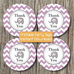 DIY Thank You Tags Baby Shower Favor Tags by BumpAndBeyondDesigns, $4.00