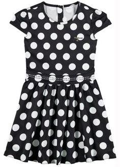 Vestido Infantil Poá (Preto) Carinhoso