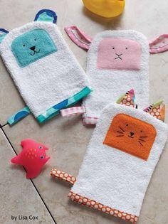 For making bath time lots of fun. Free bath buddies sewing pattern.